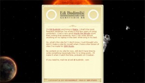 Edi Budimilic - Old website